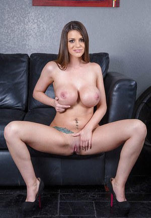 Brooklyn Chase with her d cups taking of her useless clothing