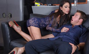 Stunning milf with big tits Jessica Jaymes gets dirty with her friend