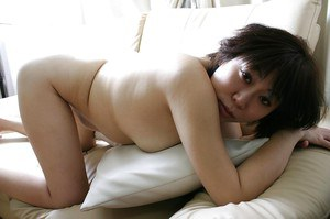 Goodly slut Yoshiko Sakai has a hairy vagina and wants to play with it