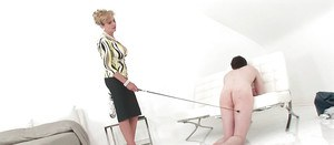 Mature girl Lady Sonia is featured in a femdom scene with her lover
