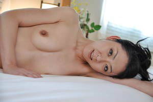 Fantastic brunette Saeko Kojima is demonstrating her Asian tiny tits