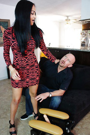 Kimberly Kendall has her tight cunt fucked with a sex toys machine