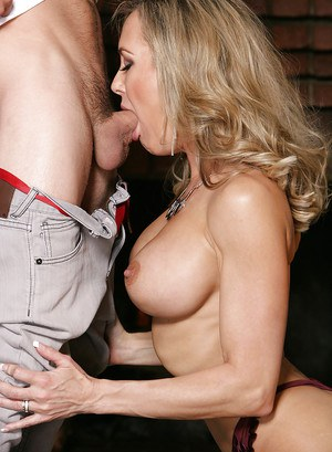 Ass fucking scene featuring an perfect cougar milf Brandi Love