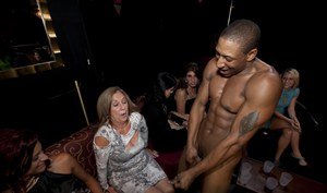 Big tits babes are doing fantastic blowjobs on a crazy party