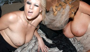 Groupsex scene features big tits milf in a costume Armani St. James