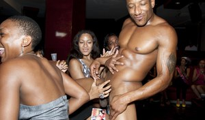 CFNM party features interracial sex and a lot of beautiful girls