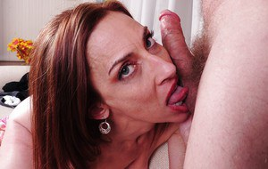Mature mom Betty Blaze gets teased while in her sexy yoga pants