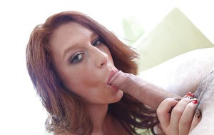 Blowjob giving Sasha is a gonzo sex lover and cum eater