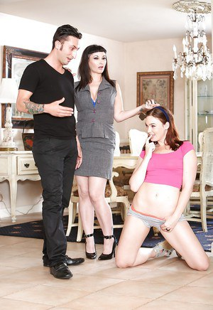 Threesome sex scene features milf pornstars Carrie Ann and Jodi Taylor