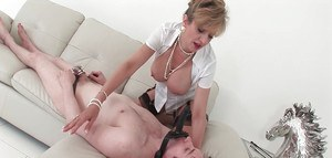 Great femdom action with mature slut in stockings Sonia