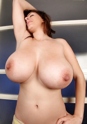 Big tits babe with hard nipples September Carrino shown in close up