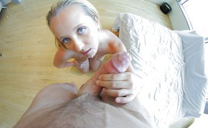 Pussy lick and anal gape action features an busty blondie Tucker Starr