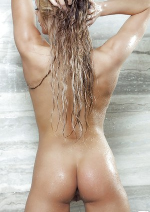 Audrey Aleen Allen dose some undressing in her bath room while taking shower