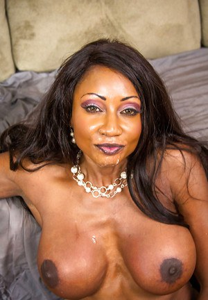 Ebony milf Diamond Jackson gets seduced by a younger guy with a big cock