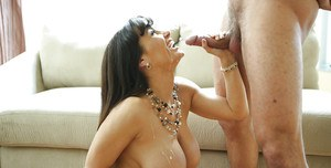 Hardcore fuck of an big tits mature lady Lisa Ann and her man