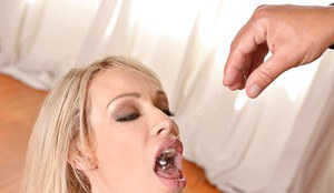 Hot fetish scene with a sexy blonde milf Chessie Kay doing blowjob