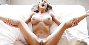 Brandi Love has her tight mature cunt nailed hardcore in close up
