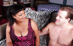 Cumshot scene features Ebony fatty Betty and her boyfriend