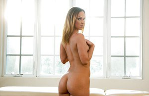 Jada Stevens demonstrates her tight pussy and ass in lingerie