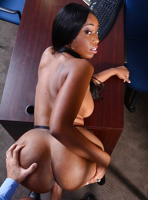 Magnificent ebony whore Codi has large tits and awesome ass to bang