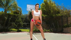 Milf chick Kendra Lust plays sports and shows off her big tits