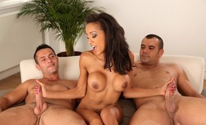 Alyssa Divine and Eva Berger have their European cunts fucked in a groupsex