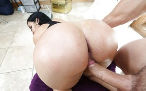 Hardcore ass fuck with a marvelous Latina brunette Destiny