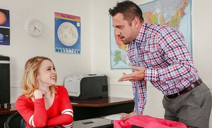 Coed teacher Alexia Gold gets fucked hardcore in the classroom