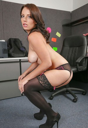 Office undressing scene reveals sexy ass of hot babe Kayla West