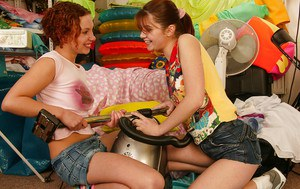 Lesbian teen Pauline B has her pussy licked out by her lover