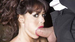 Milf wife Ava Dalush pleases her man with a perfect blowjob