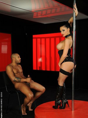 Interracial sex after striptease from sweet pornstar Aletta Ocean