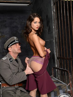 European babe Foxy Di has her tight ass nailed hardcore in jail
