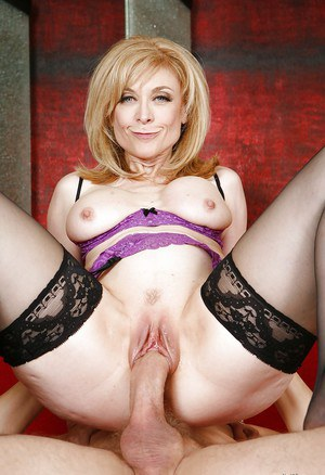 Mature pornstar with big tits Nina Hartley enjoys hardcore sex