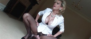 Femdom action with stunning mature Lady Sonia and her lover