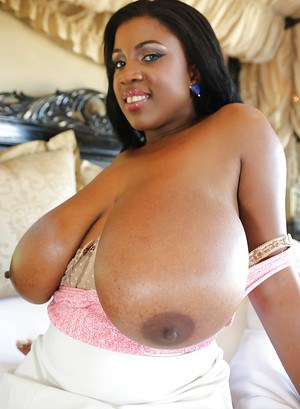 Ebony cutie with big tits Maserati XXX shows off in glasses