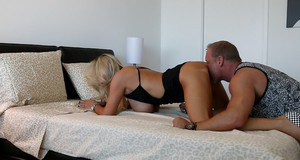 Hardcore ass fucking scene features mature housewife Sandra Otterson