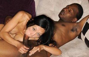 Interracial sex scene features Asian milf with big tits Tia Ling