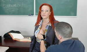 Milf teacher Shannon Kelly has her cougar pussy fucked hardcore