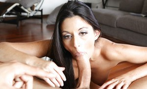 Close up hardcore action with a brunette milf Nikki Daniels