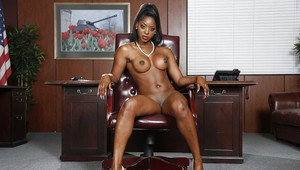 Undressing Ebony milf Diamond Jackson shows off in her lingerie