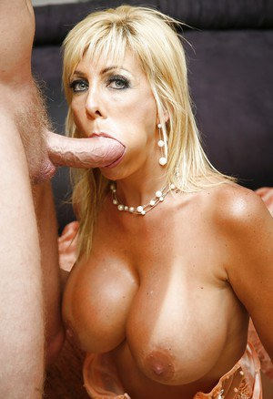 Mature pornstar with blonde hair Misty Vonage enjoys hardcore ass fucking