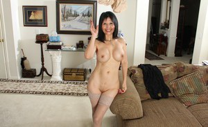 Close up undressing scene features big tits mature Marcy Darling