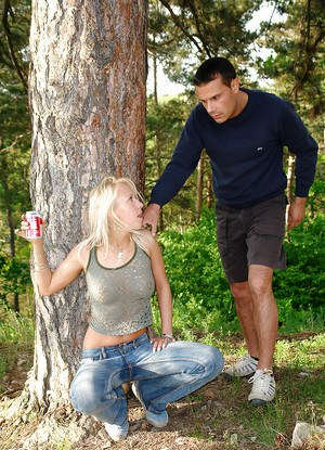 Outdoor hardcore fuck of a teen cutie and her handsome boyfriend