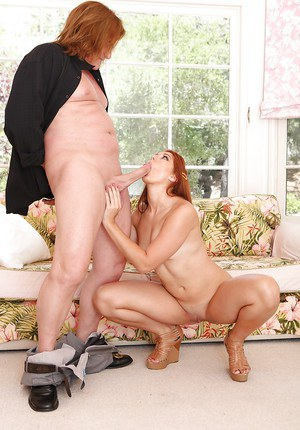 Sexy redhead Rose Red enjoys hardcore anal sex with her man