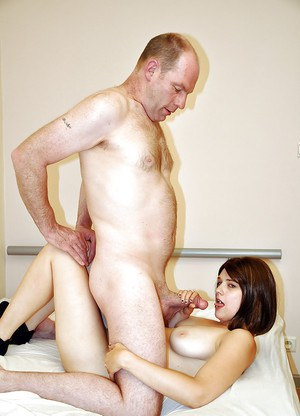 First class blowjob and handjob done by a big tits cutie to her lover