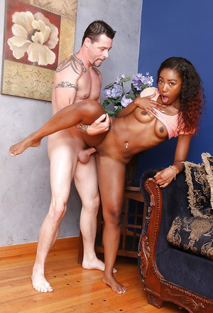 Hardcore ass fucking with an Ebony teen Chanell Heart and her man