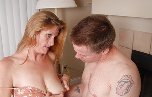 Mature chick with big tits TJ enjoys hardcore fuck with her man