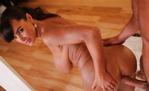 Hardcore ass fucking action with a big tits mature Lisa Ann