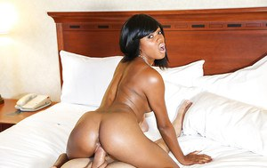 Teen pussy of an Ebony cowgirl Karma May is nailed hardcore